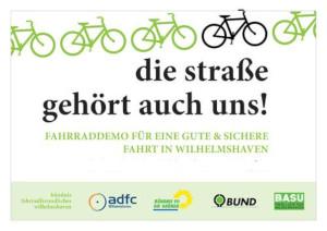 Fahrraddemo Wilhelmshaven