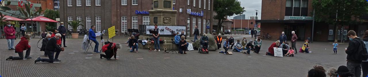 Kundgebung gegen Rassismus in Leer