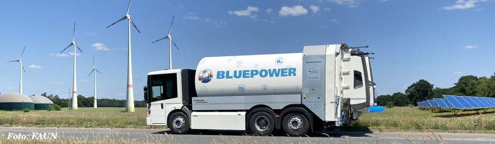 Wasserstoffgetriebenes Müllfahrzeug
