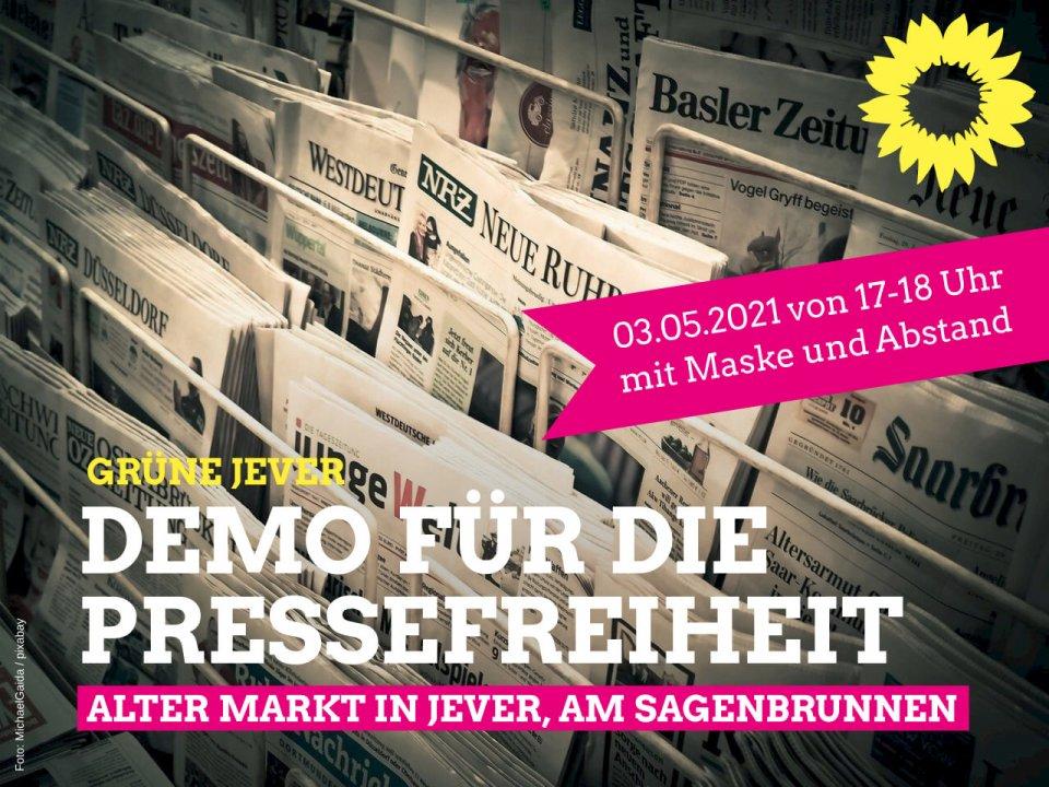 GRN-JEV Demo für Pressefreiheit